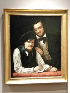 Selbstbildnis Franz Xaver und Hermann Winterhalter