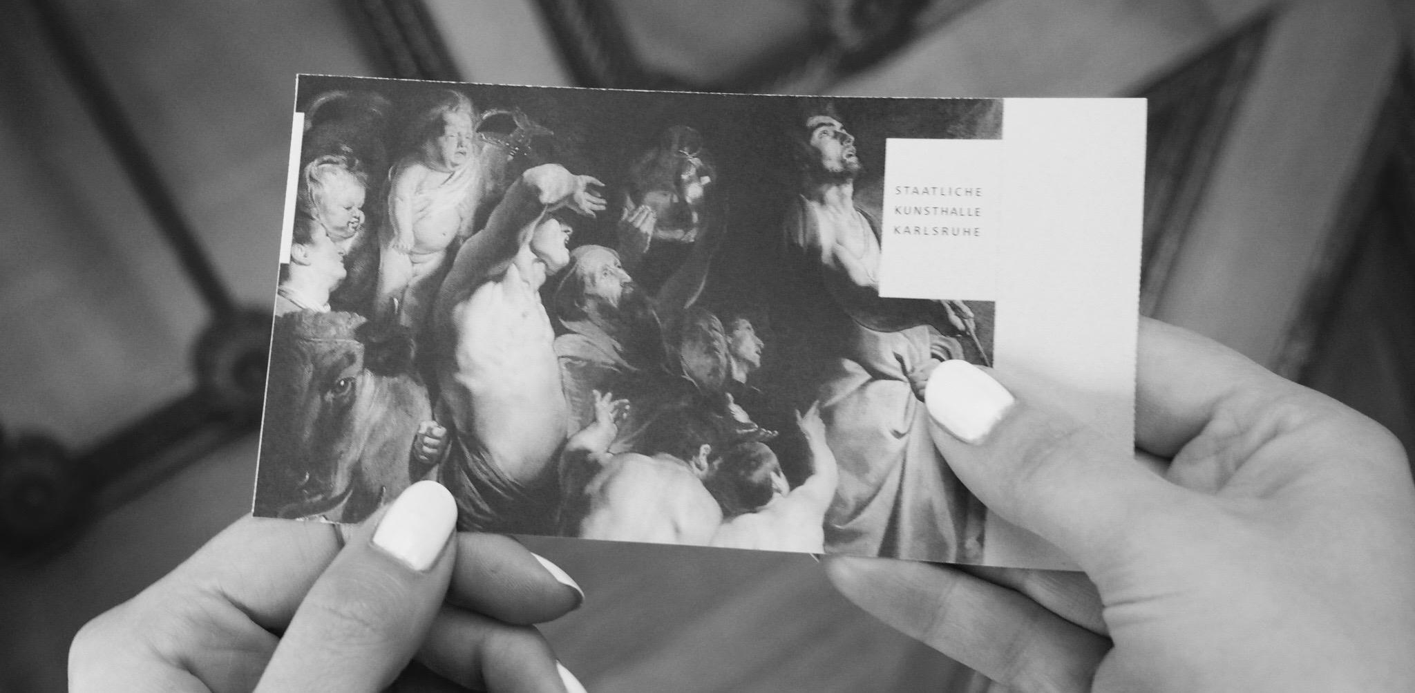 Eintrittskarte zur Ausstellung I am Here.
