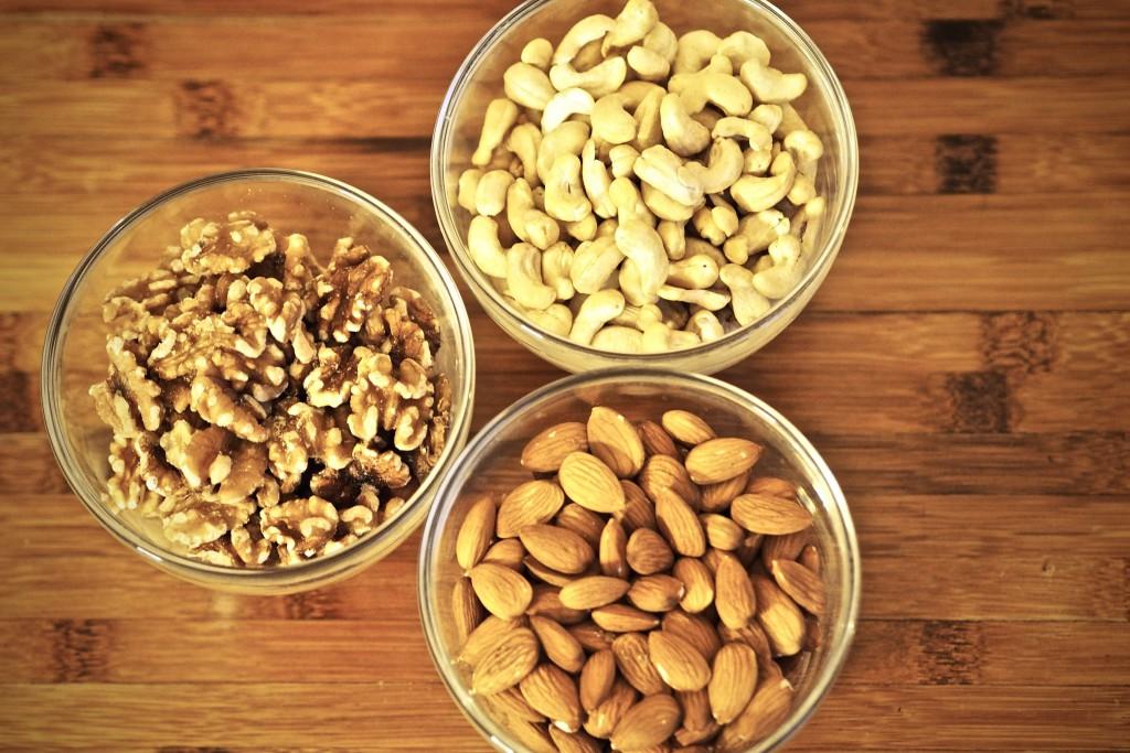 Haselnüsse, Cashews, Mandeln