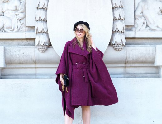 Fashion-Bloggerin auf der Fashion Week Paris