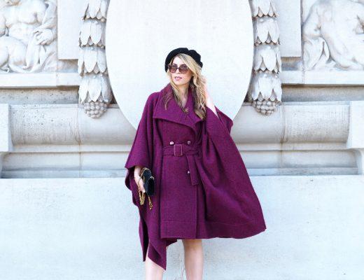 Fashion-Bloggerin auf der Fashion Week Paris